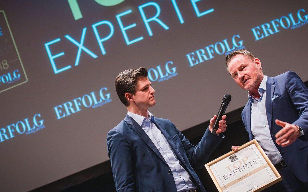 Auszeichnung und Aufnahme in den Top Experten Zirkel D/A/CH 2019 als Top Experte für Digitalisierung und Change Management