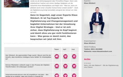 Klaus Stöckert Top Experte für Digitalisierung und Changemanagement bei den @radioEXPERTEN